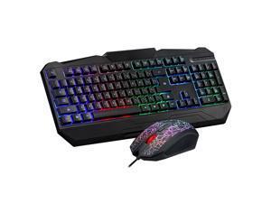 MOTOSPEED USB Wired Gaming Esport Keyboard & DPI Optical Mouse Combo Set Kit Colorful LED Backlit for PC Laptop Notebook Desktop