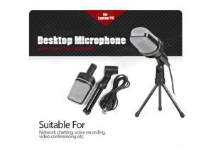 Desktop Microphone with Tripod Professional Podcast Studio Microphone For Laptop/PC (3.5mm Jack/2.1M-Cable)