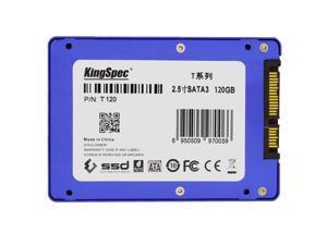 "KingSpec T240 SATA III 3.0 2.5"" 2.5 Inch 120GB MLC Digital SSD Solid Drive for Computer PC Laptop Desktop"