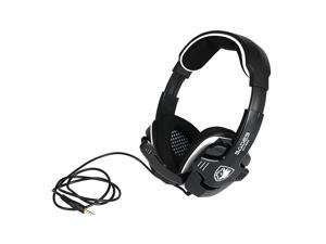 SADES SA992 Gaming Headphone with Mic 3.5mm Noise Cancellation & Wonderful Sound Effect Music Earphones with Adjustable Headband Black for Desktop Notebook