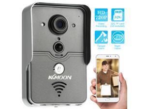 KKMMOON HD 720P Doorbell P2P Wireless WIFI Video Door Phone Visual Intercom Remote Unlock TF Card Phone