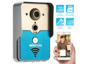 KKMMOON HD 720P Doorbell P2P Wireless WIFI Video Door Phone Visual Intercom Remote Unlock Support TF Card Phone Access