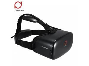 DeePoon E2 Virtual Reality Display Glasses VR Video Game Glasses 1080P AMOLED Display Screen Head-Mounted w/HDMI Cable for Computer Notebook