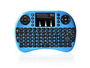 Rii i8+ 2.4G Mini Wireless Keyboard with Backlit Backlight Multi-touch Touchpad US Layout Handheld for Andriod TV Box HTPC PC Pad