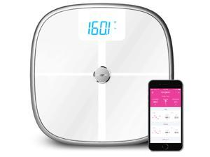 Koogeek Bluetooth Wifi Smart Scale, 8 Body Statistics Measurement 16 User Recognition, Baby Weighing Health Scale