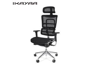 iKayaa Multi-function Adjustable Mesh Ergonomic Office Chair Swivel Executive Computer Gaming Chair W/ Lumbar Support Tilt Slide Headrest Pass ANSI/BIFMA Standard