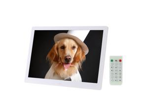 "15.6"" High Resolution 1280*800 LED Digital Photo Picture Frame Advertising Machine Alarm Clock MP3 MP4 Movie Player with Remote Control Christmas Gift Present"