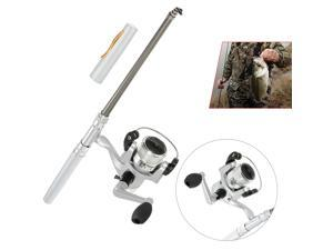 Mini Aluminum Pocket Pen Fishing Rod Pole + Reel