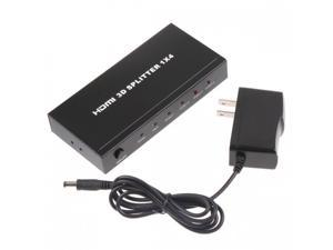 4 Port HDMI Audio Video Amplifier Splitter Multiplier