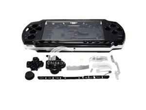 Full Housing Kit Replacement Case for Sony PSP 2000 - black