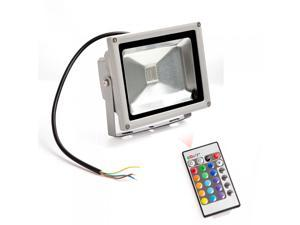 20W RGB Color Outdoor LED Spotlight Flood Light Lamp Waterproof + Remote Control