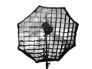 95cm / 37.4in Octagon Umbrella Softbox Brolly Reflector Tent Studio Photography with Honeycomb Grid Carbon Fiber Bracket for   Speedlite Flash Light