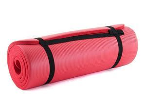 """ProSource premium 1/2"""" extra thick 71"""" long high density exercise yoga mat with comfort foam and carrying case"""