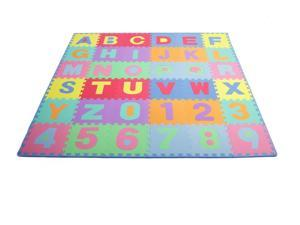 ProSource Puzzle Alphabet and Numbers Foam PlayMat for Kids - 36 tiles with edges