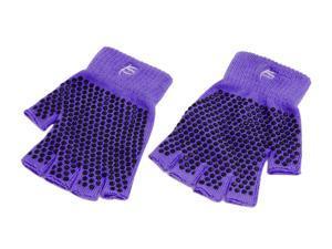 ProSource Grippy Yoga Gloves, Non-Slip Fingerless Design in Multiple Colors