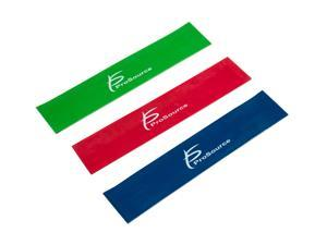 ProSource Loop Resistance Bands Set of 3, 2-inch Wide for Leg Exercises and Physical Therapy