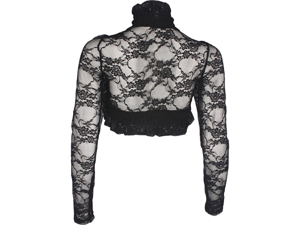 Sheer Floral Stretch Lace Bolero Cover-up Long Sleeve Junior Plus Size