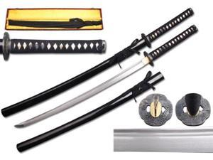 40 1/4 inch Musha  Hand Forged Samurai Sword, Raiden Series, Black