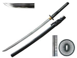 41 inch Musha  Hand Forged Samurai Sword, Chidori Series, Black