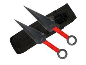 "2 Pcs 8"" Ninja kunai with sheath"