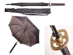 "41"" Heiwa (peace) black samurai handle umbrella"