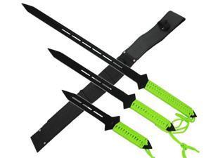 3 Pcs black machete set