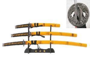 3Pcs Samurai Sword Set, Orange