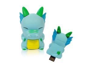 DIGILION minieyes 8GB USB 2.0 PoP-Out Flash Drive (Bruce, Blue)