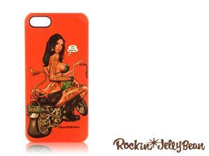Rockin Jelly Bean Hard Shell Case For iPhone 5 (Bike Girl, Orange) FGI11MU012831