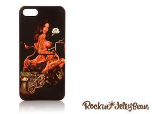 Rockin Jelly Bean Hard Shell Case For iPhone 5 (Bike Girl, Black) FGI11MU012832