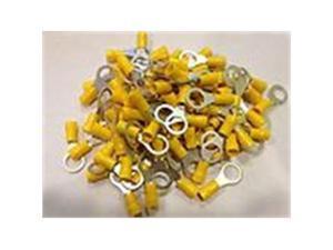 NEW XSCORPION RTT10Y YELLOW RING TERMINALS 12 - 10 GAUGE 100 PER BAG