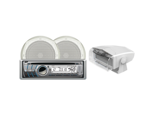 """DUAL MCP300GH Marine Single-DIN CD Receiver with 6.5"""" Speakers & Gimbal Housing"""