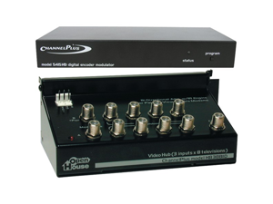 CHANNEL PLUS MPT5415HD Single channel hd modulator and 3x8 distribution system with ir engine