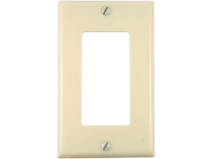UNION 80401-I Residential-Grade D?cor Wall Plate (Single gang, Ivory)