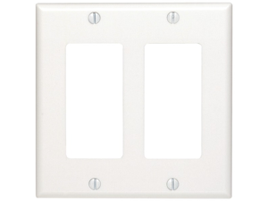 UNION 80409W Residential-Grade D?cor Wall Plates (Dual gang&#59; White)