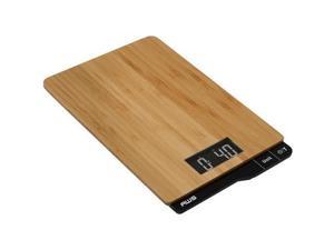 American Weigh Scales ECO-5K Bamboo Digital Kitchen Scale 11lb x 0.1oz Wood Platform