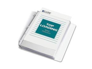 "C line 62017 Polypropylene Top Loading Sheet Protector   Letter 8.50"" x 11""   3 x Holes   Polypropylene   100 / Box   Clear"
