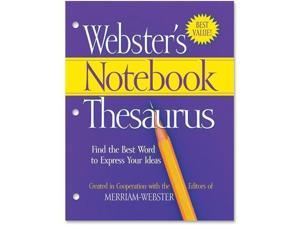 Merriam Webster FSP0573 3 Hole Punch Paperback Thesaurus Dictionary Printed Book   English   Softcover   80 Pages