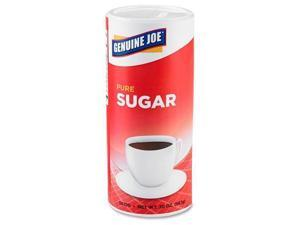 Genuine Joe 56100 Pure Cane Sugar Canister   Canister   1.25 lb   Natural Sweetener   3/Pack