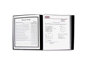 "C line 33240 24 Pocket Bound Sheet Protector Presentation Book, Black, 33240   Letter   8.50"" Width x 11"" Length Sheet Size   48 Sheet Capacity   24 Pockets   Polypropylene   Black   1 / Each"