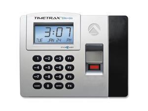 Pyramid Time Systems TTELITEEK TimeTrax Elite Biometric Time Clock System   Biometric, Key Code   50 Employee