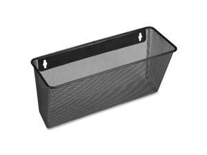 "Lorell 84144 Black Mesh/Wire Wall Pocket   Wall Mountable   6.6"" Height x 12.6"" Width x 4.8"" Depth   Black"