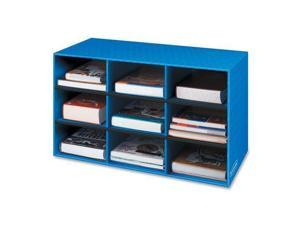 """Bankers Box 3380701 9 Compartment Classroom Cubby   16"""" Height x 28.3"""" Width x 13"""" Depth   9 Compartment(s)   Corrugated Paper   Blue"""