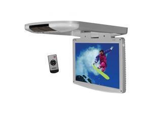 "Tview T1588IRGR 15.4"" Wide Screen LED Flip Down Monitor (Gray)"
