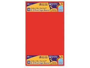 """Sign Board E-Z Print Primary Color 8.5""""x14"""" 10/PK AST"""