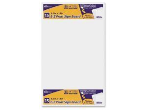"""Sign Board E-Z Print 8.5""""x14"""" 10/PK White"""