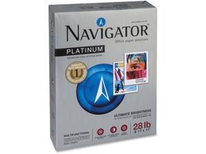 """Platinum Navigator Paper GE99 28 lb. 8-1/2""""x11"""" 500/RM BRWE"""