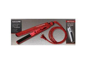 BaBylissPRO BABRD1039PP Red Ceramic Deco Cord Flat Iron 1 Inch