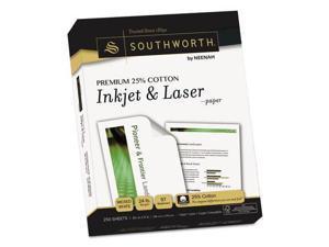 Premium 25% Cotton Inkjet/Laser Paper White 97 Bright 24lb Letter 250/Pack