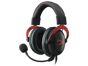 Kingston KHX-HSCP-RD HyperX Cloud II Headset - Surround - Red - Mini-phone - Wired - 60 Ohm - 15 Hz - 25 kHz - Over-the-head - Binaural - Circumaural - 3.28 ft Cable - Condenser Microphone